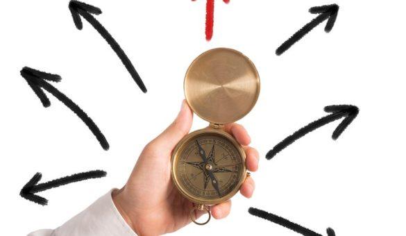 Boussole avec plusieurs directions
